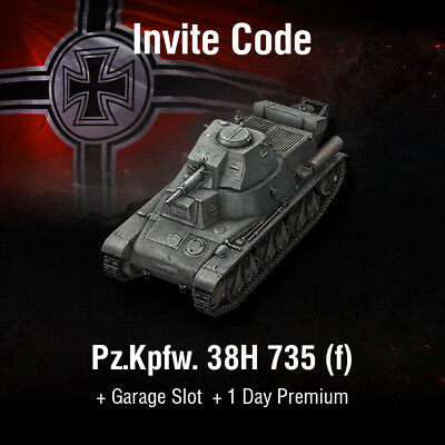 World of Tanks | WoT | Invite Code | Pz.Kpfw. 38H 735 (f) | Minimaus | EU | PC