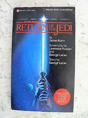 Vintage STAR WARS Return of the Jedi Special Book Club Ed. PHOTOS 1983 Paperback