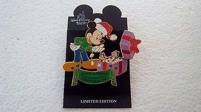 *~*disney Wdw Night Before Christmas 2001 Mickey & Friends Chip & Dale Le Pin*~*