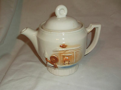 Small PORCELIER Spinning Wheel & Hearth Teapot