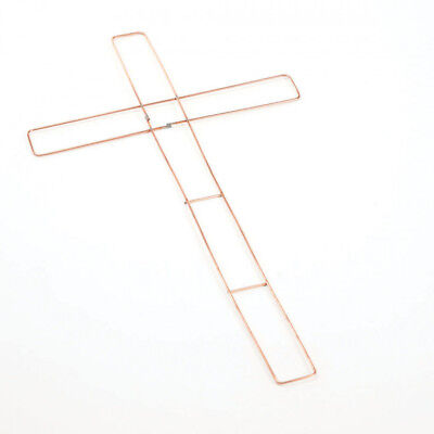 """Flat Wire Wreath Crosses Frames 18"""" (46Cm) For Holly Christmas Xmas Craft 9524"""