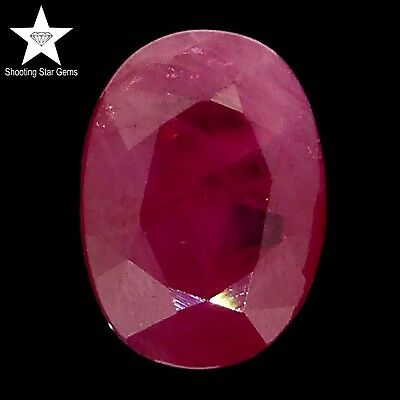 7x5 oval cut unheated ruby 1.12ct Natural Loose Gemstones