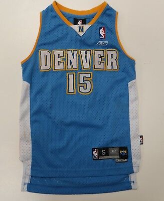 Reebok Denver Nuggets Carmelo Anthony  15 Blue NBA Jersey Youth Small 8 Sewn 16c668c64