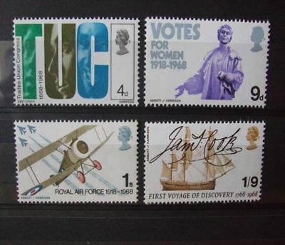 1968 - Gb Stamps -British Anniversaries -- Mnh