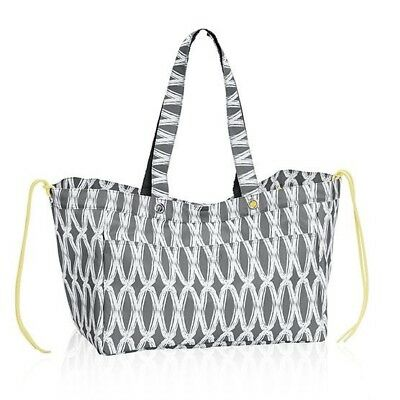 Thirty One Soft Utility Tote Charcoal Links -NOP