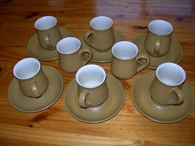 Denby Ode Stoneware Coffee Cups and Saucers