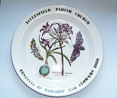 RARE Portmeirion Plate-Ecclesfield Parish Church Festival of Worship and Flowers