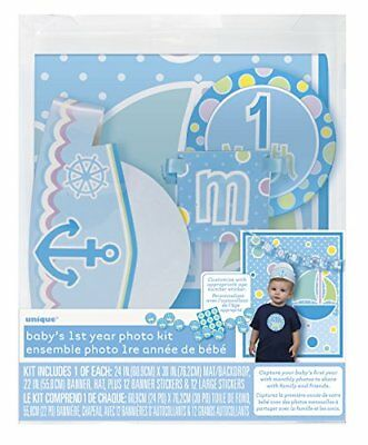 Monthly Baby Photography Props and Stickers - Boy, Set of 16 Pieces