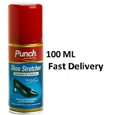 PUNCH 100ml leather shoe stretcher/softener spray relieves tight fitting shoes