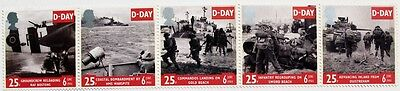50th anniversary of D-DAY, World war II, Royal Mail June 1994 stamps, GB, MNH