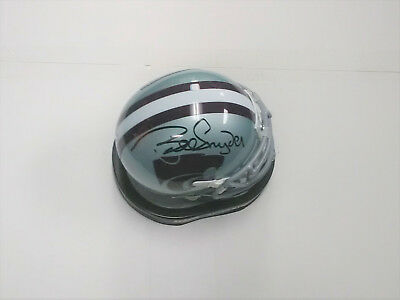 BILL SNYDER Kansas State Wildcats Football Coach SIGNED Mini Helmet