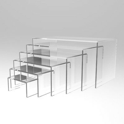 PERSPEX® 6pcs Jewellery Display  Stand BLACK RED TRANSPARENT WHITE FROSTED 3MM