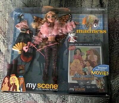 My Scene BARBIE Masquerade Madness BUTTERFLY PUNK NEW