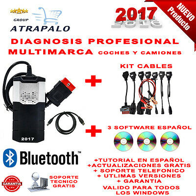 Maquina Diagnosis Bluetooth Multimarca 2017 + 3 Softwares + Full Cables