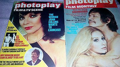 REVISTA 2x1 MAGAZINEs photoplay rare 1973 79 special Bronsons Joan Collins mags