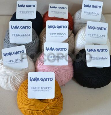 Gomitolo Lana Merino Irrestringibile Lana Gatto Art. Free 2200 Made In Italy