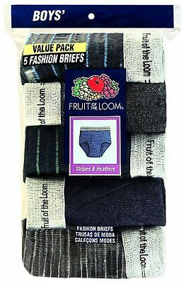 Fruit of the Loom 5P469B--L (14-16) Big Boys Assorted Fashion Brief 5 Pack