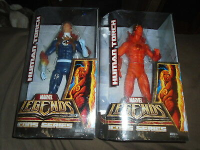 Hasbro Marvel Legends Icons Series Lot of 2 Human Torch Variant NIP