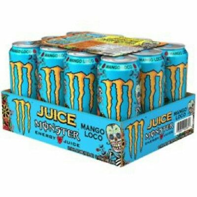 NEW 2017 12 Full Cans Monster Energy Juice Drinks》MANGO LOCO