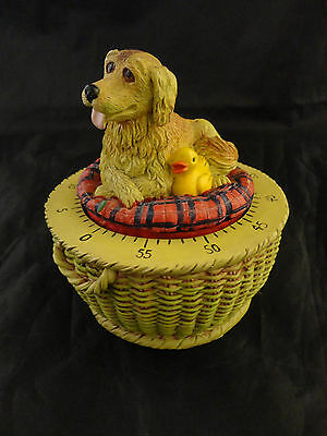Barking Labrador/Retriever and Duck Hard Resin 60 Minute Kitchen Timer