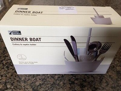 Dinner Boat Cutlery & napkin holder new Monkey Business boat decor home