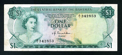 Bahamas  Bank Note  1974   One Dollar   F - VF