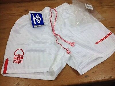 Vintage Nottingham Forest 1990s UMBRO SHORTS Boys Youths 12/13 Years BNWT OG