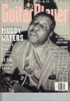 March 1994 Guitar Player Magazine Muddy Waters - Zappa - ZZ Top -Alice in Chains