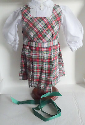 American Girl MOLLY PLAID SCHOOL JUMPER SET- PLEASANT CO.- NEW - COMPLETE 1997