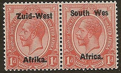 "SOUTH WEST AFRICA 1923 KGV  ERROR 1d ""WES FOR ""WEST"" SG2b SACC2b 5000 RAND"