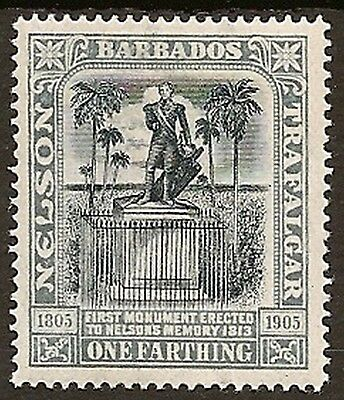 BARBADOS 1906 NELSON ¼d INVERTED WMK SG145w  MINT
