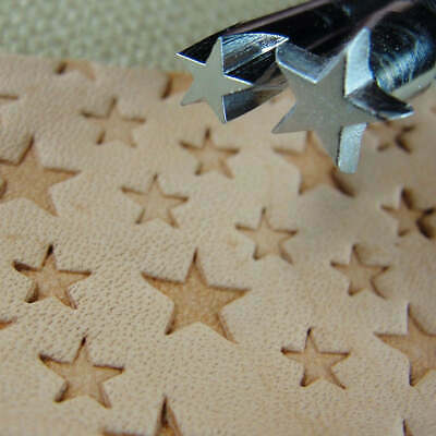 Craft Japan - #O53/O54 5-Point Star Stamp Set (2 Leather Stamping Tools)