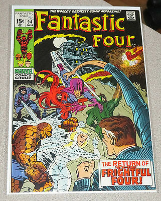 Fantastic Four #94 Vf The Frightful Four Marvel Intro To Agatha Harkness 8.0
