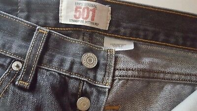Levis 501 Youth Size 14 Regular 27 X 27 Button Fly Faded Straight Leg Jeans
