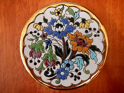 """Ceramicas Sevilla Limited Edition Hand Painted Plate 6 3/4"""" dia. Spain"""