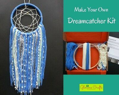 Dreamcatcher Kit, Blue, Boho, Bohemian, Craft, Birthday, Christmas, Gift