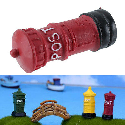 UK Seller Miniature Retro Postbox Mail Box Dolls House Accessory Fairy Garden