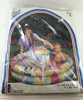 "Intex inflatable kids pool 2 ring Riviera Beach 39 gallon 48""x10"" 1998 new"