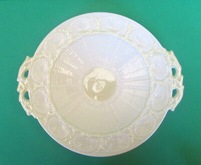 "Belleek ""New Shell"" Cake Plate in Cob Lustre Finish,  Ireland"