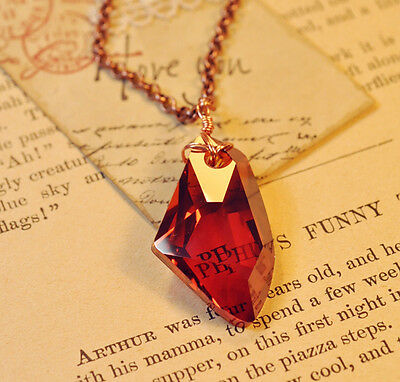 HP The Sorcerers Red Crystal Magic Philosophers Stone Necklace Pendant