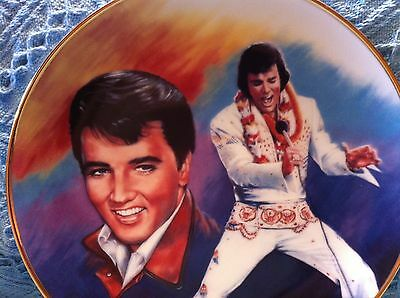 """Nos 1989 Hamilton Collection Elvis Remembered """"forever Yours"""" Plate"""