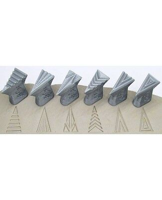 Pottery texturing ceramic clay tools: Rélyéf set of stamps 15 x 30 mm