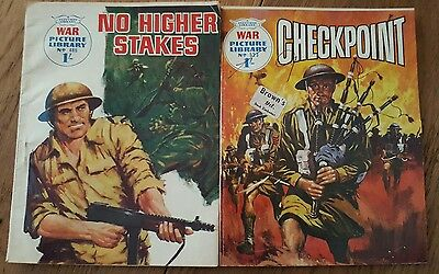 Pair of  Vintage War Picture Library Comics (1968/1969)