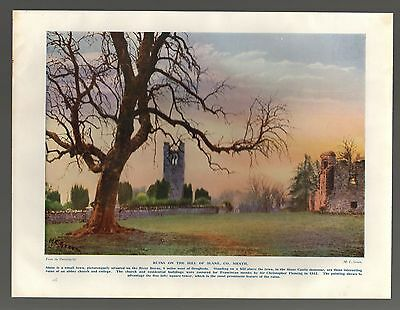 (1818) Ruins On  The Hill Of Slane County Meath    M C Green   -  c.1930s Print