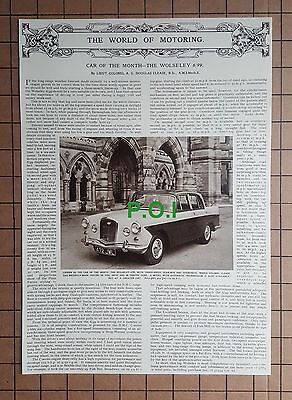 (X221) The Wolseley Car Review - 1961 Clip