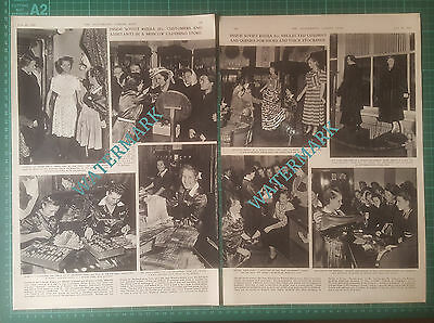 (XX195) Soviet Russia Moscow  Gum Department Store  - 1955 Article