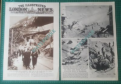 XX184) Switzerland Avalanche Train Tunnel Chur Arosa Line - 1951