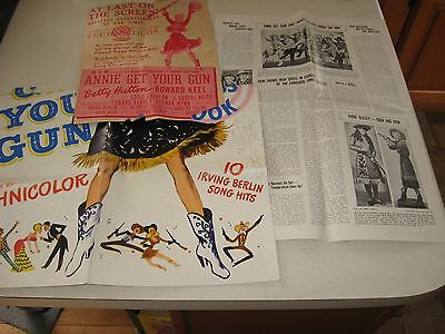 ANNIE GET YOUR GUN vintage paper magazine clippings  1/2 a poster
