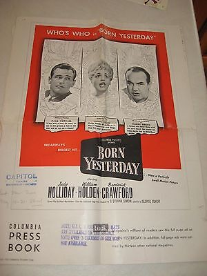 Columbia Pressbook WHO'S WHO in BORN YESTERDAY Judy Holiday William Holden +