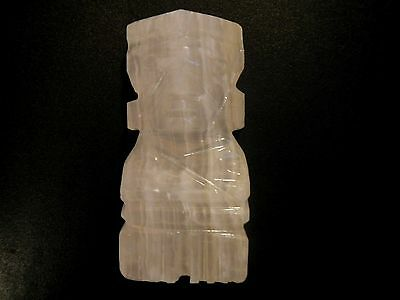 Vintage mexican carved white onyx figurine
